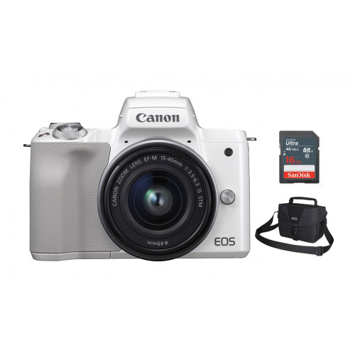 EOS M50 (Black/White) 15-45 KIT + BAG 3150 + 16G