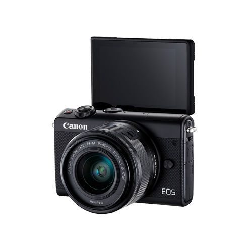 EOS M100 (Black/White) 15-45 KIT + 고래파우치 + 16G